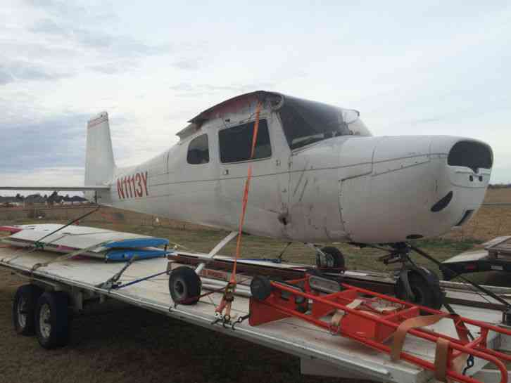 """""""no engine or propeller some other small parts missing needs paint"""" Cessna  1963 1963 Cessna 150B"""