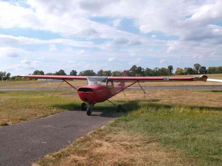 1966 CESSNA 150, CUTE RED, GOOD OVERALL AIRFRAME, LEFT WING DAMAGE, CHEAP PROJEC