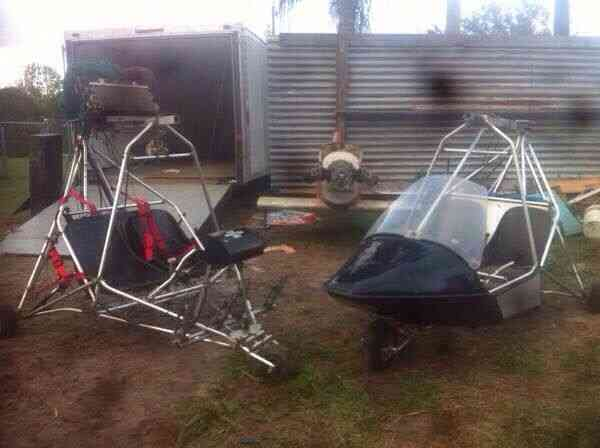 2 ultralight aircraft - 2 seat MX & M-Squared rotax parachute paraglider honda