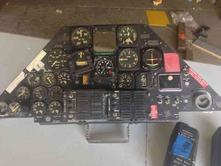 Airplane Instrument Panel : Ah cobra instrument panel with instruments g model rear