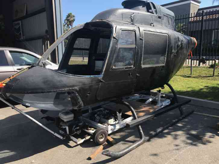 Honda Jet Price >> BELL : Helicopter 206 Jet Ranger Airframe fuselage as a movie stage