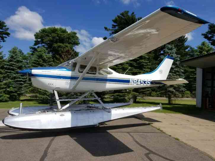 """very clean 1965 Cessna 182H model with float kit , Sportsman STOL kit,  nice set EDO 2960 floats'"