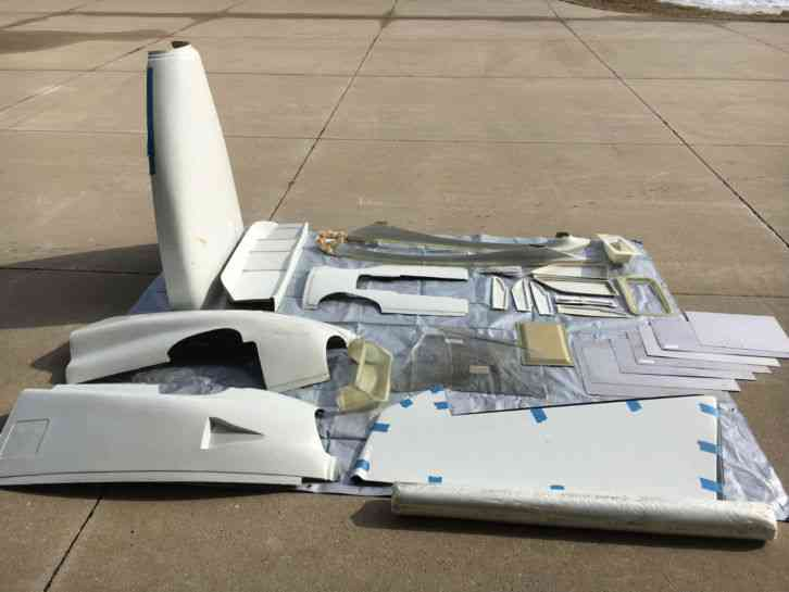 """""""Fuselage in great shape with many additional parts  Will need to order  front 3 windows, gull wing"""