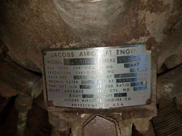 """""""THIS IS A USED RADIAL ENGINE CORE"""" YOU ARE BIDDING ON A USED JACOBS R755  B2 RADIAL AIRCRAFT ENGINE"""