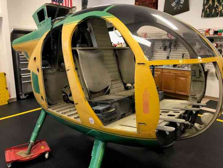 Md Hughes 500c Helicopter Fuselage No Logs For Movie Or