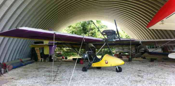 """""""This plane is in flying condition, runs and flies great, but needs some  TLC"""" Phantom X 1 ultralight"""