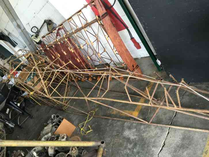"""""""Damaged  Needs repair """" Piper This is a damaged Piper J3 Cub fuselage that  was found in a barn  It"""