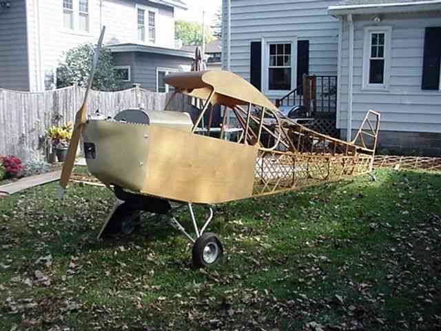 RARE ULTRA LIGHT PLANE WOOD CONSTRUCTION WORK OF ART