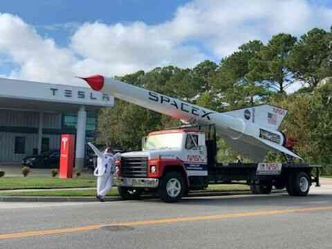 "Rocket Truck ""Space X"" Rocket Truck Replica for CHARITY! Read Ad Donate"